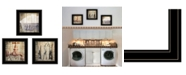 "Trendy Decor 4U Trendy Decor 4U Wash 3-Piece Vignette by Misty Michelle, Black Frame, 15"" x 15"""