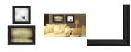 "Trendy Decor 4U Trendy Decor 4U Misty Seascapes 2-Piece Vignette by Michael Petrizzo, Black Frame, 21"" x 15"""
