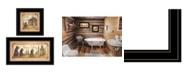"Trendy Decor 4U Natures / Bath 2-Piece Vignette by Mary Ann June, Black Frame, 13"" x 19"""