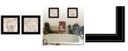 "Trendy Decor 4U Soak Unwind 2-Piece Vignette by Deb Strain, Black Frame, 15"" x 15"""