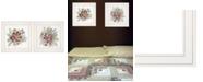 "Trendy Decor 4U Floral Spray I II 2-Piece Vignette by Cindy Jacobs, White Frame, 15"" x 19"""