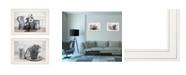 "Trendy Decor 4U Floral with Tin Ware 2-Piece Vignette by Robin-Lee Vieira, White Frame, 21"" x 15"""