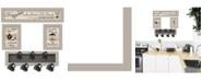 "Trendy Decor 4U Kitchen Collection IV 4-Piece Vignette with 7-Peg Mug Rack by Millwork Engineering, Sand Frame, 32"" x 10"""