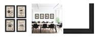 """Trendy Decor 4U Trendy Decor 4U Friendship Collection 4-Piece Vignette by Millwork Engineering, Black Frame, 11"""" x 15"""""""