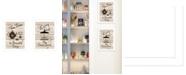 "Trendy Decor 4U Enjoy Tea Time 2-Piece Vignette by Millwork Engineering, White Frame, 14"" x 10"""
