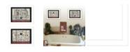 "Trendy Decor 4U Hot Bath 2-Piece Vignette by Linda Spivey, White Frame, 18"" x 14"""