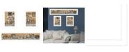 "Trendy Decor 4U Where Family Friends Gather 3-Piece Vignette by Mary Ann June, White Frame, 38"" x 16"""