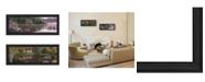 "Trendy Decor 4U Trendy Decor 4U Lake Panoramic Beauty Collection By Kim Norlien, Printed Wall Art, Ready to hang, Black Frame, 27"" x 11"""
