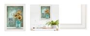 "Trendy Decor 4U All Along by Tonya Crawford, Ready to hang Framed print, White Frame, 15"" x 19"""