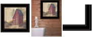 "Trendy Decor 4U Folk Art Outhouse II by Pam Britton, Ready to hang Framed Print, Black Frame, 15"" x 15"""