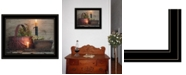 """Trendy Decor 4U The Red Basket by Susie Boyer, Ready to hang Framed Print, Black Frame, 19"""" x 15"""""""