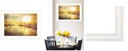 "Trendy Decor 4U Trendy Decor 4U Yellow Sunset by Bluebird Barn, Ready to hang Framed Print, White Frame, 21"" x 15"""
