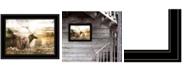 "Trendy Decor 4U Heading Home-Elk by Bluebird Barn, Ready to hang Framed Print, Black Frame, 19"" x 15"""