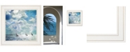"""Trendy Decor 4U Sailing White Waters by Bluebird Barn Group, Ready to hang Framed Print, White Frame, 15"""" x 15"""""""