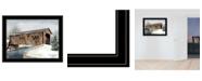 "Trendy Decor 4U The Kissing Bridge by Billy Jacobs, Ready to hang Framed Print, Black Frame, 27"" x 21"""