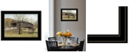 """Trendy Decor 4U The Old Humpback Bridge by Billy Jacobs, Ready to hang Framed Print, Black Frame, 19"""" x 15"""""""