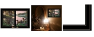 """Trendy Decor 4U Northern Tranquility by Kim Norlien, Ready to hang Framed Print, Black Window-Style Frame, 21"""" x 15"""""""