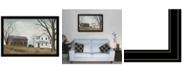 "Trendy Decor 4U Sunday Service by Billy Jacobs, Ready to hang Framed Print, Black Frame, 33"" x 23"""