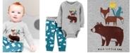 Carter's Baby Boys 2-Pc. Cotton Woodland Creatures Bodysuit & Jogger Pants Set