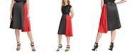 DKNY Mixed-Media Asymmetrical Skirt