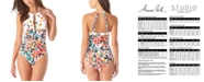 Anne Cole Sunset Floral High Neck One-Piece Swimsuit