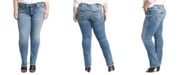 Silver Jeans Co. Plus Size Suki Curvy-Fit Straight-Leg Jeans