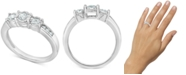 Macy's Diamond Three-Stone Ring (1/2 ct. t.w.) in 14k White Gold