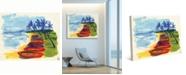 "Creative Gallery Banoi Boats on the Beach 24"" x 20"" Canvas Wall Art Print"
