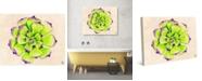 "Creative Gallery Jovial Succulent Cactus Watercolor 20"" x 16"" Canvas Wall Art Print"