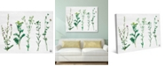 """Creative Gallery 4S Dried Wildflowers on White Paper-pattern 36"""" x 24"""" Canvas Wall Art Print"""