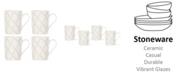 Lenox Textured Neutrals Lattice Mugs/4