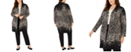 Alfani Plus Size Ombré Patterned Cardigan, Created for Macy's