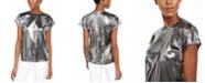 Michael Kors Metallic Cap-Sleeve Top