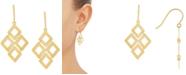 Macy's Square Link Chandelier Drop Earrings in 10k Gold