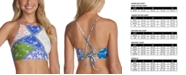 Raisins Juniors' Las Brisas Printed Shorebreak High-Neck Bikini Top