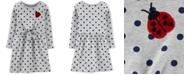 Carter's Little Girls Dot-Print Sequin-Ladybug Dress