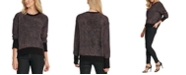 DKNY Multicolor Fuzzy Sweater