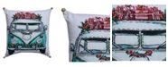 Chicos Home Christmas Holiday Van Pillow Cover