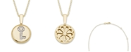 Macy's Diamond (1/20 ct. t.w.) Key Pendant in 14k Yellow or Rose Gold
