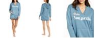 Jenni Graphic-Print Sleepshirt Hoodie, Created For Macy's