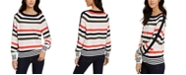Tommy Hilfiger Striped Balloon-Sleeve Sweater