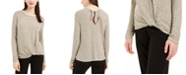 BCX Juniors' Twist-Front Tie-Back Sweater