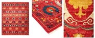 "Timeless Rug Designs One of a Kind OOAK1239 Raspberry 10'2"" x 13'10"" Area Rug"