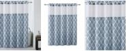 Hookless Diamond Shower Curtain with Peva Liner