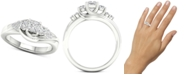Macy's Diamond Princess Engagement Ring (3/4 ct. t.w.) in 14k White Gold