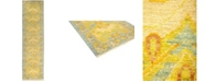 """Timeless Rug Designs CLOSEOUT! One of a Kind OOAK535 Yellow 2'6"""" x 9'10"""" Runner Rug"""
