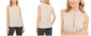 Calvin Klein Petite Ruffled Mock-Neck Top