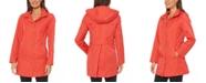 Jones New York Hooded Water-Resistant Raincoat