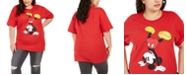 Love Tribe Hybrid Trendy Plus Size Upside-Down Mickey T-Shirt, Created For Macy's