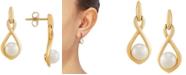 Macy's Cultured Freshwater Pearl (5mm) Drop Earrings in 10k Gold